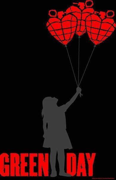 Green Day - American Idiot Balloon Girl Textile Poster