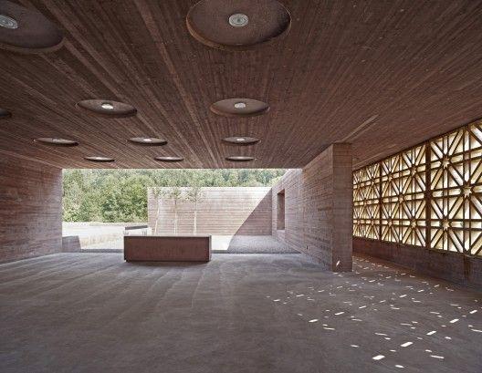 Islamic Cemetery, Altach, Austria; designed by Bernado Bader Architects