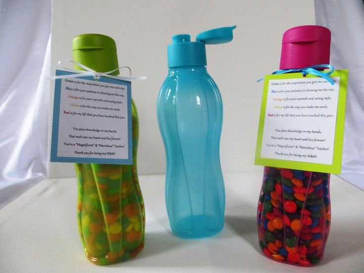 Teacher Appreciation Week is May 5-9 (Day May 6)! Show your child's teacher your appreciation with a Tupperware Eco Water Bottle filled with M&M's paired with this super sweet M&M poem. Available in 16 oz (set of 4), 25oz (set of 3), and 36 oz (1 pc). contact me..these would be great!