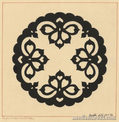Hungarian design. Originally an embroidery design.