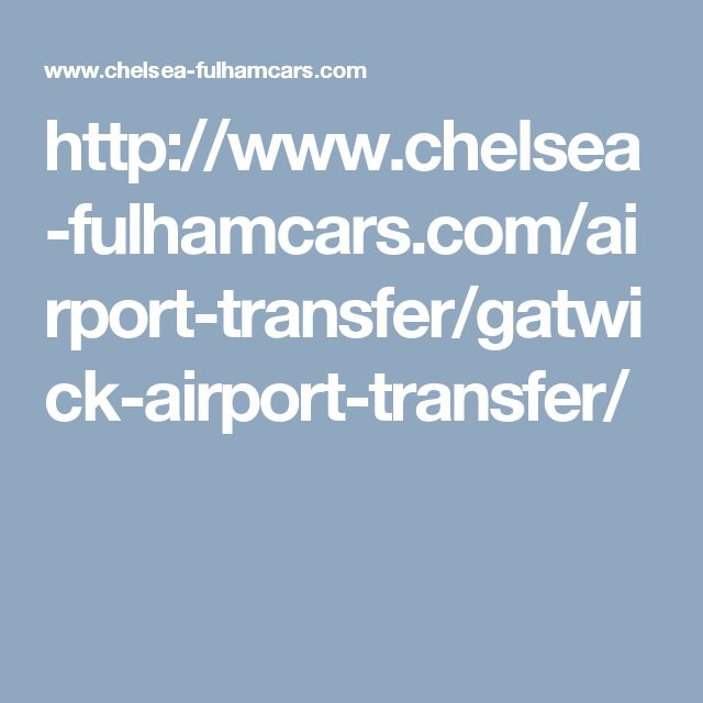 We at Chelsea and Fulham Cars believe in the exclusivity and luxury Gatwick Airport taxi, airport transfer and chauffeur service. Our excellent limo service
