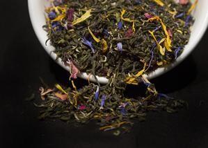 teachers    organic green tea with calendula cornflowers and rose