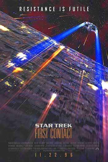 STAR TREK 8: FIRST CONTACT-1996 -orig D/S 27x40 ADV movie poster PATRICK STEWART