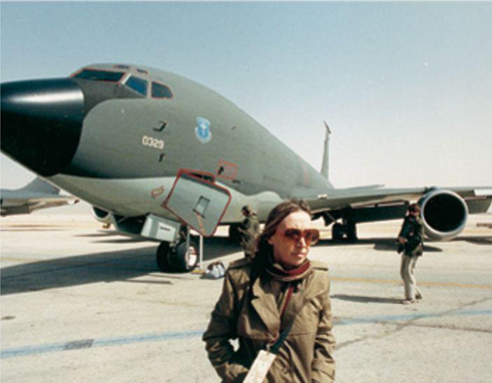 La Fallaci in Kuwait nel 1991 durante la guerra del Golfo - Foto - Oriana Fallaci