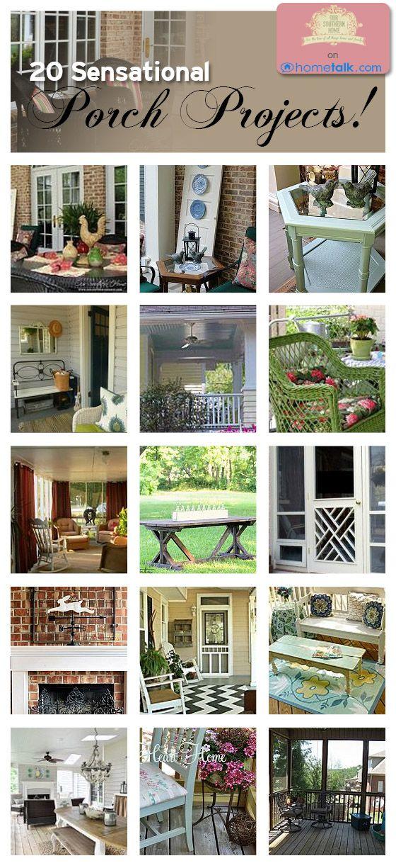 DIY & Home Decor: 20 Sensational Porch Projects!