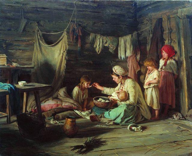 Выздоравливающая. 1889. Лемох К.В. K.Lemokh. Recovering girl. 1889