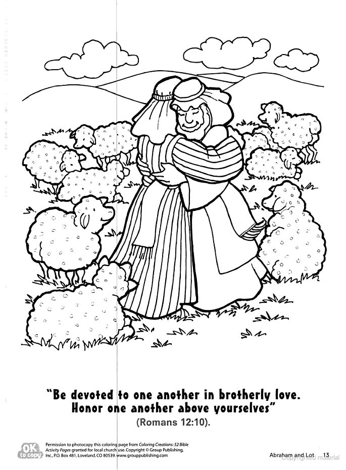 Abraham Lets Lot Choose Land Coloring Page Kid S Church Abraham And Coloring Pages