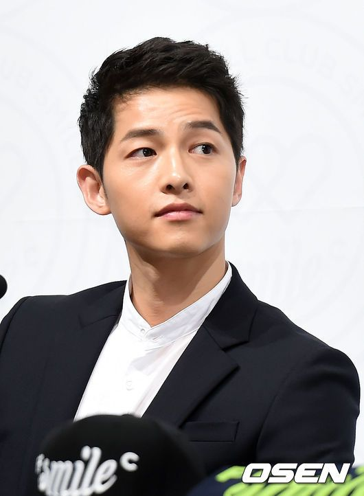 150810    Song Joong Ki 송중기 at FC SMILE launch ceremony.