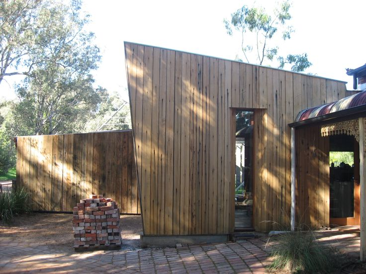 Kitchen Addition with Garage Beyond. MKD project_Seven Creeks, Euroa. Vic.