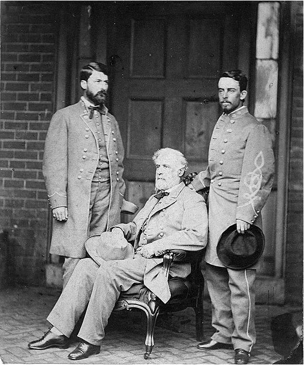 From L-R General Lee's son, George Washington Custis-Lee, General Robert E. Lee, and Walter TaylorGeorge Washington, Civil Wars, General Lee, American History, Walter Taylors, General Robert, Robert Lee, American Civil, Historical