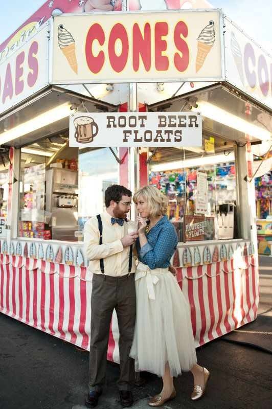 Carnival/ fair engagement session Amanda + Kevin Photo By Sarah & Ben