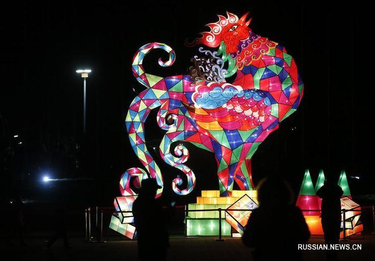 Новогодний фестиваль фонарей в Пекине