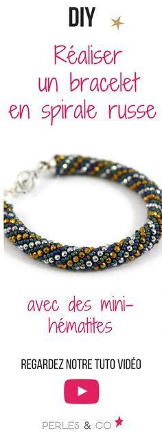 Voici un tutoriel vidéo pour apprendre la technique de la spirale russe et réaliser un bracelet élégant avec des perles de rocaille #diy #tutoriel #apprendre #spirale #russe