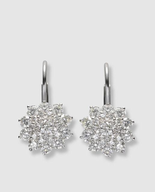 fd90ebc6960f Pendientes en oro blanco y diamantes El Corte Inglés
