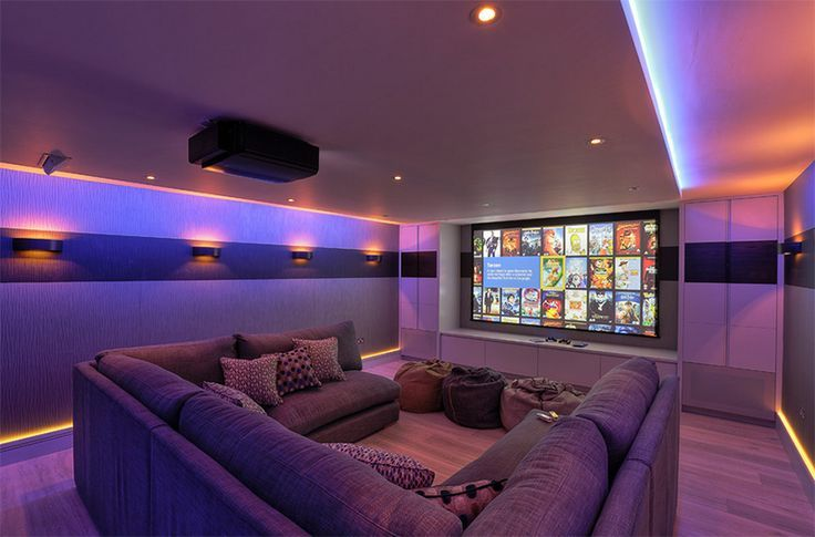 20 Well Designed Contemporary Home Cinema Ideas For The Basement Home Design Lover Home Theater Lighting Home Theater Decor Home Theater Design