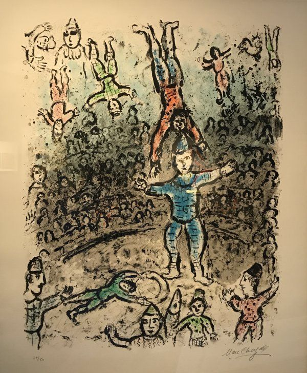 Acrobats - Marc Chagall prints http://www.printed-editions.com/art-print/marc-chagall-acrobats-58944