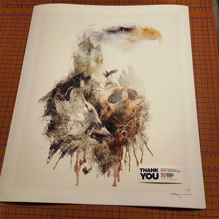 Another thank you to the buyer! My #originalart #Original #art #surrealism #surreal #nature #fantasy #conceptual #contemporaryart #artwork #photoshop #photomanipulation #designer #design #etsy #etsyshop #eagle #wolf #animals #skull #forest #artist #illustration #painting #composition #deer