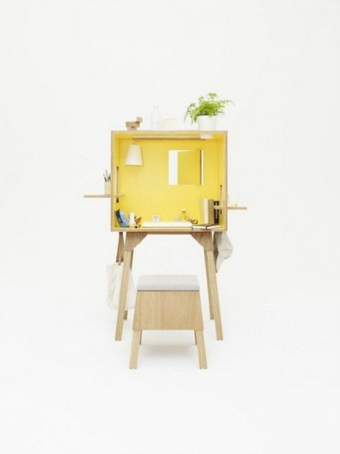 Koloro Desk and Stool -Torafu Architects