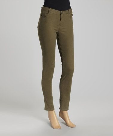 Another great find on #zulily! Olive Skinny Pants - Women by Blu Pepper #zulilyfinds