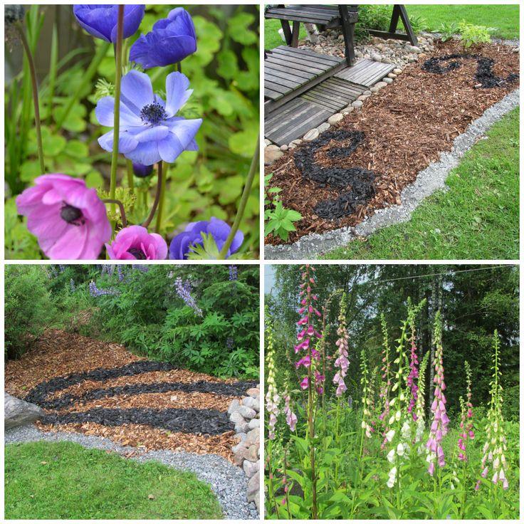 Puuhakkeestakin voi tehdä koristeita puutarhaan!