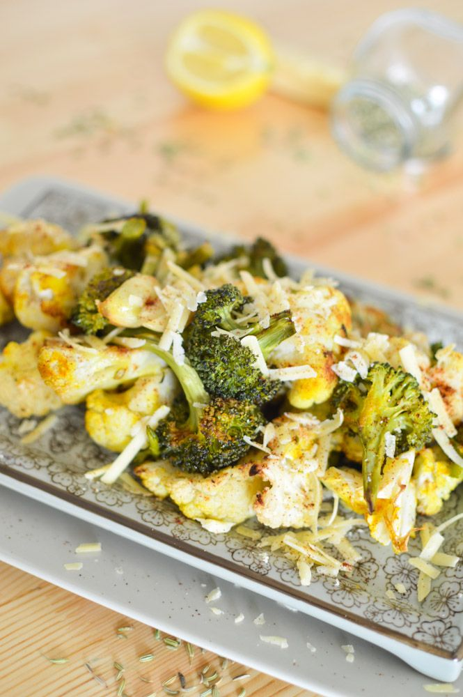 com garlic lemon roasted cauliflower and broccoli garlic lemon roasted ...