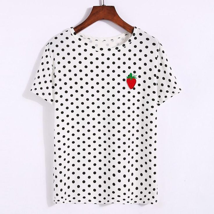 Women Summer Top Japanese Harajuku Style Short Sleeve T Shirt Polka Dots Lovely …
