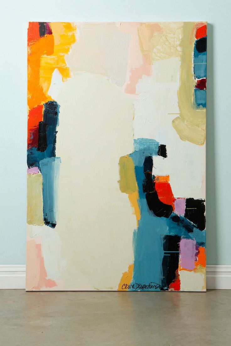 Girl And A Boy By Claire Desjardins (Anthropologie is selling original paintings on their web site. It's great to see a major retailer supporting original art.): Girls, Desjardins Clear, Inspiration, Abstract Art, Color, Abstract Expressionism, Boys, Claire Desjardines, Abstract Paintings