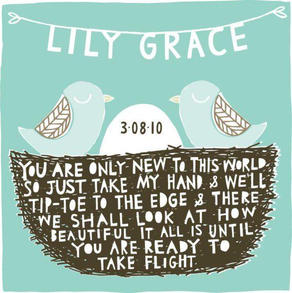 Nursery wall artNurseries Wall, Sweets Quotes, Little Birds, Baby Announcements, Art Prints, Baby Boys, Nurseries Art, Baby Room, Baby Gift
