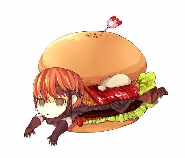 Fire Emblem: Awakening fan art, Gaia and sandwich. Teehee :3