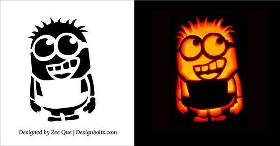 Minion pumpkin jack o lantern stencils carving pattern templates