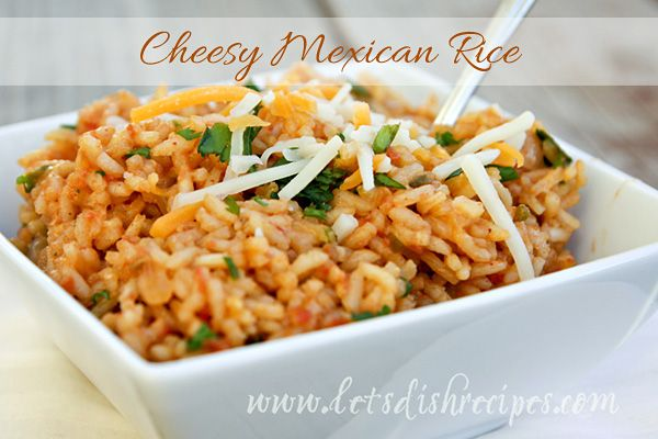 Cheesy Green Chili Rice | Let's Dish Recipes