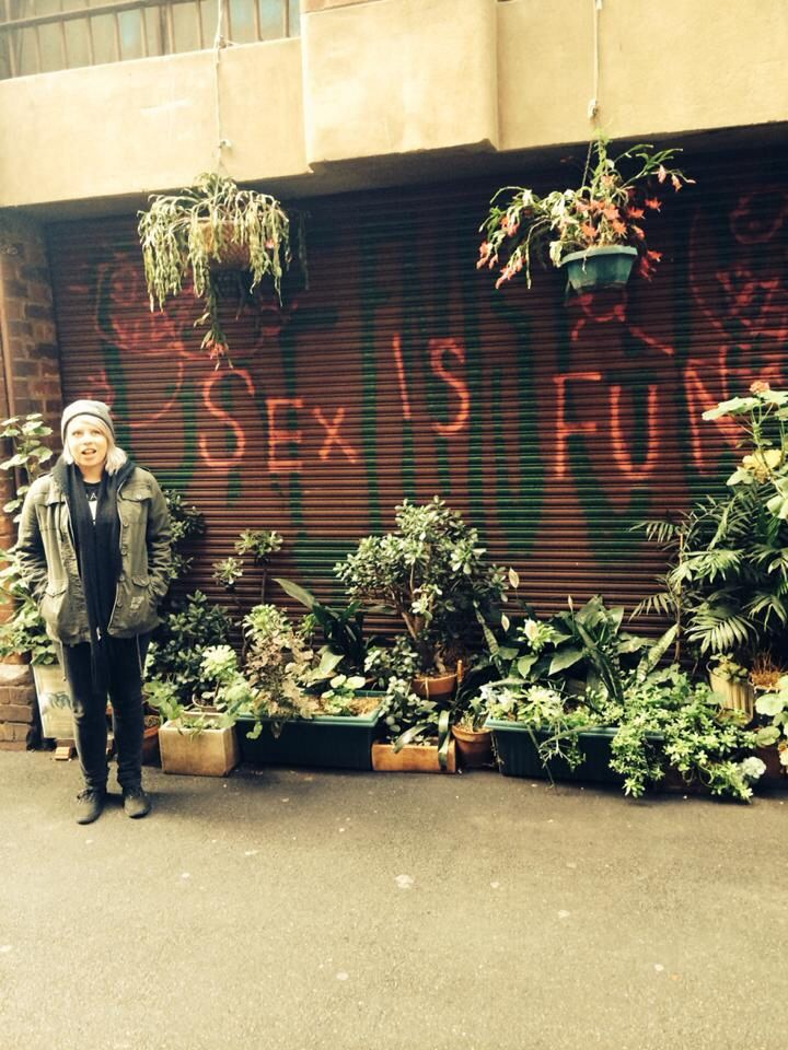 Never doubt these fine words haha #sexisfun #plants #graffiti #laneway #lesbian
