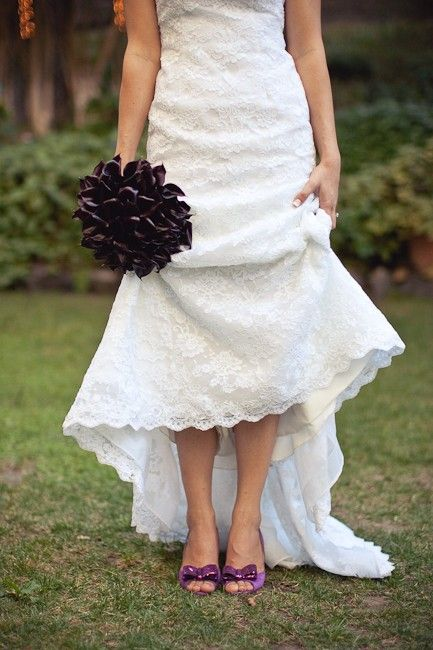 Purple shoes! - Click image to find more Wedding & Events Pinterest pins