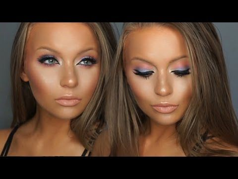 Peach and Periwinkle Summer Sunset 2016 Makeup Tutorial   Jaclyn Hill Ch...