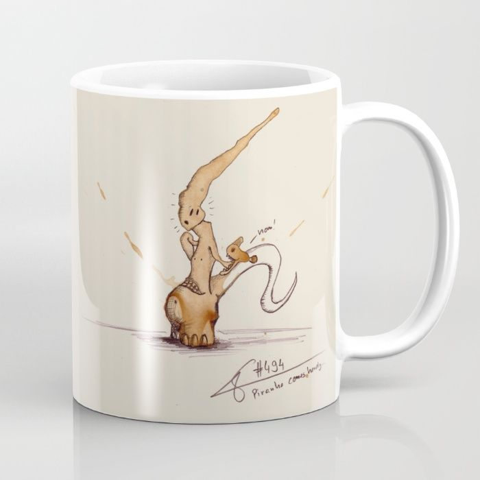 #coffeemonsters 494 Mug funny and cool art coffee mug with monsters made from coffee stains