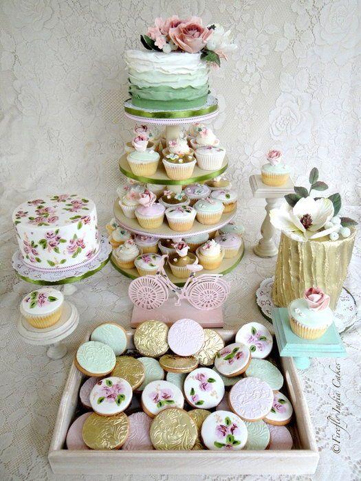 Enchanted Garden Wedding Dessert Table