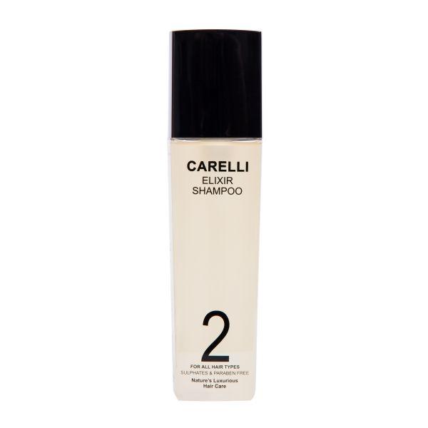 Carelli Elixir Shampoo increases the shine and vitality of the hair. https://www.carellihealthyhair.com/shop/carelli-elixir/