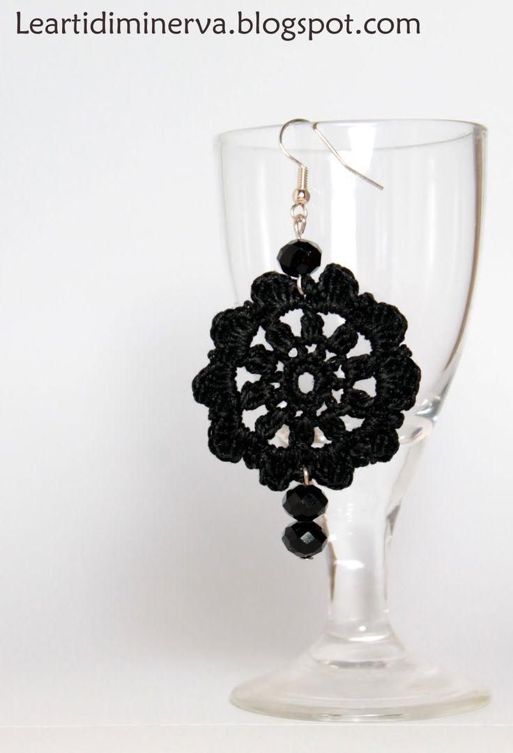 Tutorial orecchini circolari all'uncinetto | Simple crochet earrings tut...