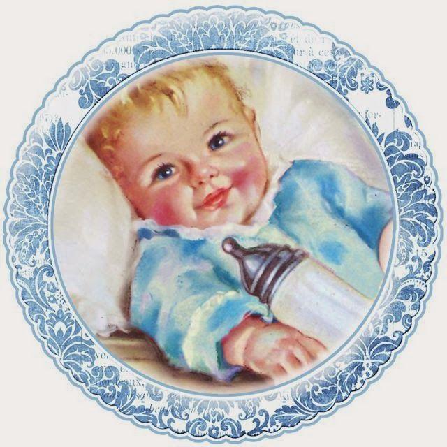 Preciosos bebés para Tarjetas, Toppers o Etiquetas. Para Imprimir Gratis.