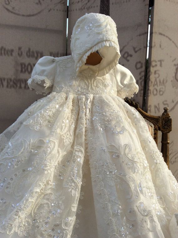 Christening Gown-baptism gown-Bautizo-special occasion- ADELINA