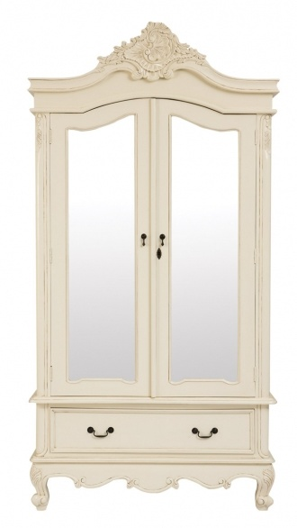 This Free Standing Wardrobe But In White Has Those Curved Legs With Flower Like Designs On The Edges Mirrors Doors Will Also Make