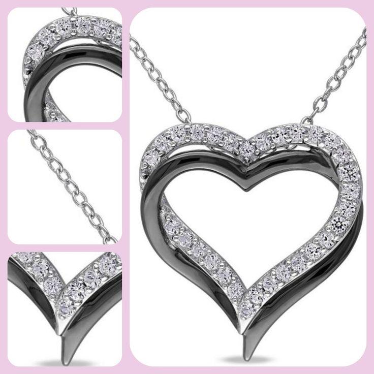 Women Pendant Silver Necklace Miabella Fashion 5/8 Carat White Sapphire Sterling   Jewelry & Watches, Fine Jewelry, Fine Necklaces & Pendants   eBay!