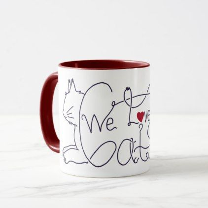 Cat lover mug - birthday gifts party celebration custom gift ideas diy