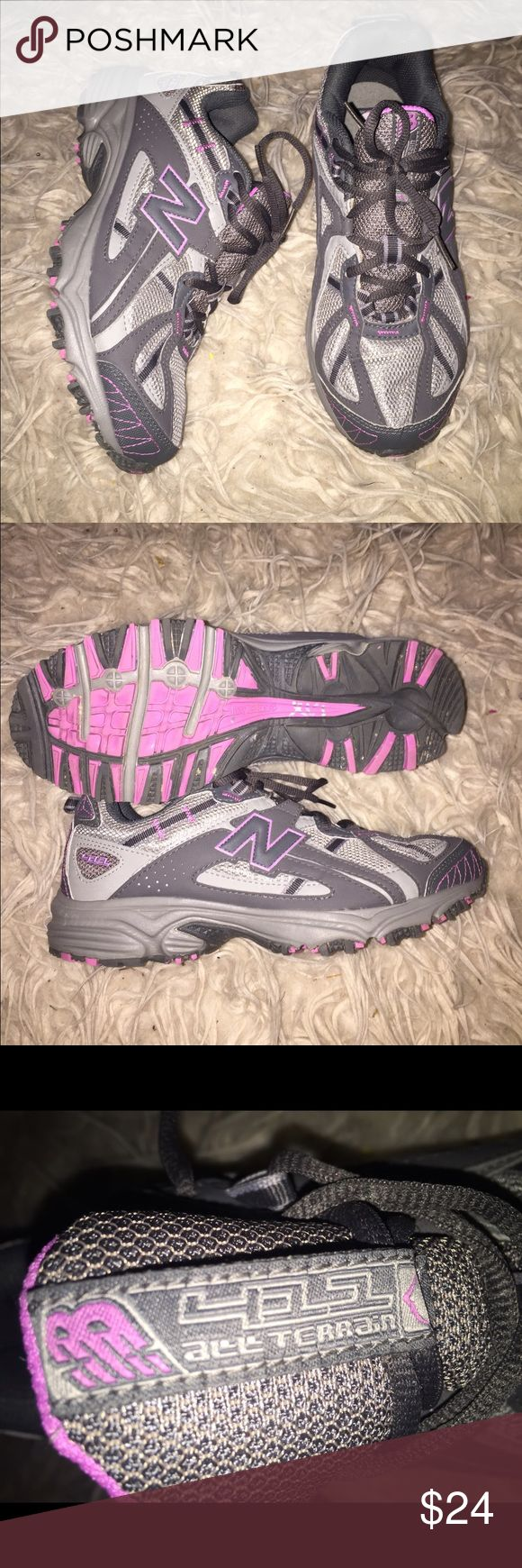 New Balance (All Terrain) Cross trainer New balance tennis shoes/sneakers. Gray with pink accent. Cross trainer / All terrain shoe. New Balance Shoes Athletic Shoes