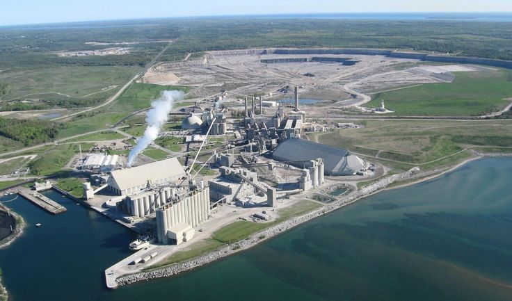 Huge Cement Plant : Lafarge alpena history and industry pinterest
