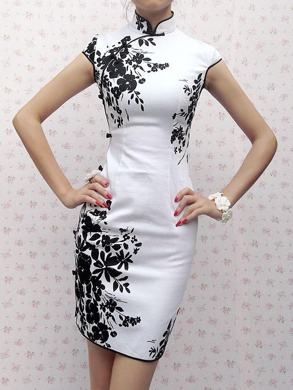夏装 连衣裙式旗袍裙 新款复古中式时尚改良旗袍 优雅显瘦旗袍裙