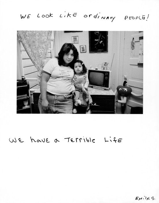 "Jim Goldberg, ""We look like ordinary people! We have a terrible life."", San Francisco, 1983, from Rich and Poor"