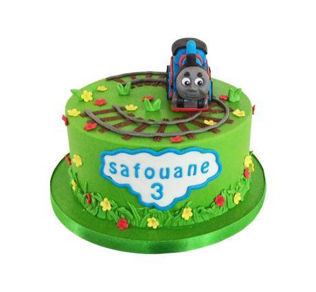 Thomas de trein 3D taart