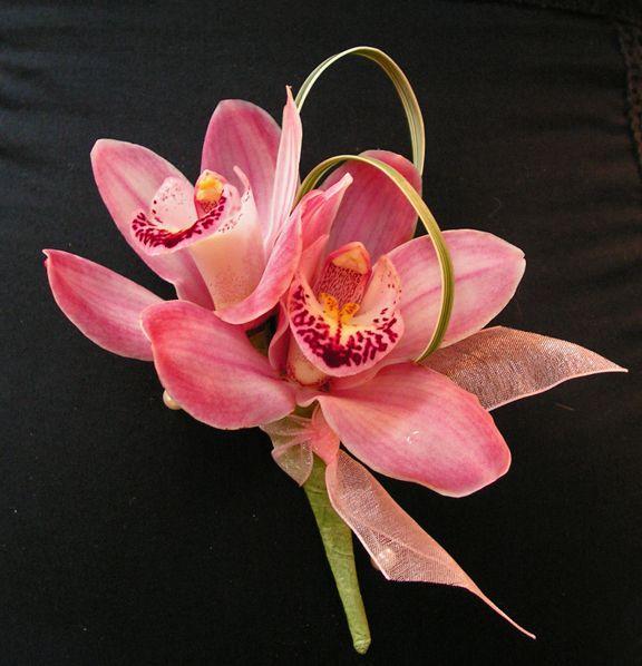 Cymbidium orchid pin-on style corsage