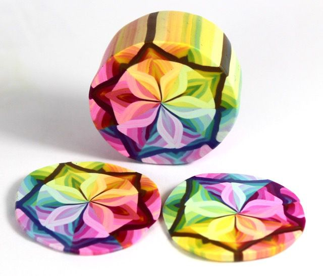 polymer clay color changing millefiori